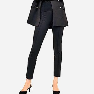 H&M Pleated Legging Work Pants Black Size Medium